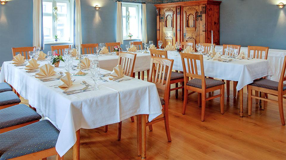 Raum für Tagungen und Feste