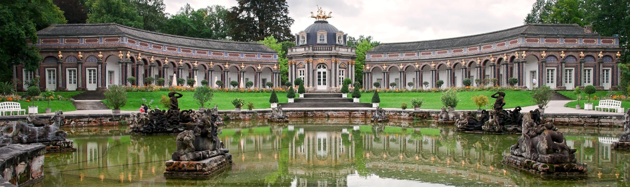 Die Eremitage Bayreuth mit brunnen