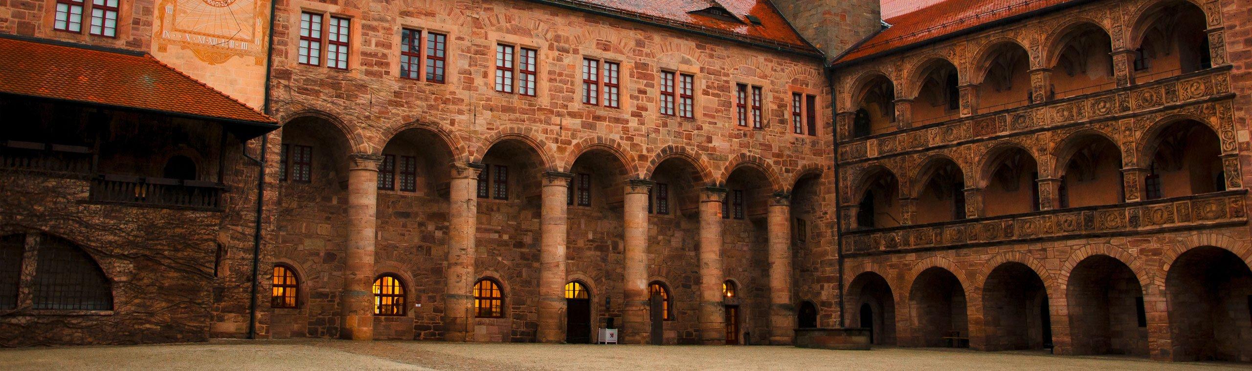 Der Innenhof der Kulmbacher Plassenburg